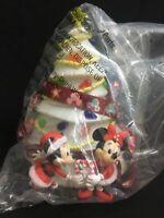 Disney Parks Mickey And Minnie White Christmas Tree Light Up Popcorn Bucket NIP