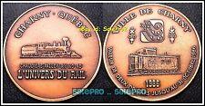 CANADA 1986 TRAIN LOCOMOTIVE CHARNY RARE $1 DOLLAR w/COA COPPER TOKEN COIN UNC
