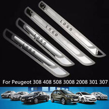 For Peugeot 3008 408 301 508 308 307 206 Stainless slim Door Sill Scuff Plat New