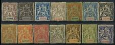 FRENCH GUIANA 1892 4c to 2F MINT FOURNIER PRINTS 14 stamps