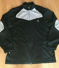 Air Jordan Mens Track Jacket Size M Full Zip Athletic Long Sleeve Black Jumpman