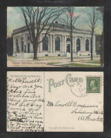 1911 POST OFFICE ITHACA NY POSTCARD