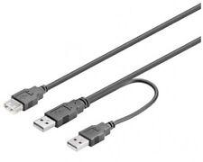 USB 2.0 Y-KABEL HDD FESTPLATTE STROM POWER ADAPTERKABEL