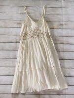 NWT Nolita Angie Cream Beaded Bohemian Dress Size Large Boho