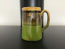 Royal Doulton Green/Yellow Glazed Jug with Faint Country Scene Design  #301