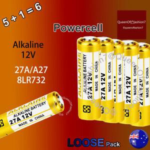 6 x 27A 12V MN27 L828 A27 V27GA Alkaine Loose Alkaline Battery Batteries (5+1)