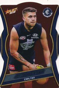 2019 Select Footy Stars Carlton Blues Red Diecut Choose your Die Cut card