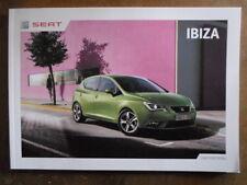 SEAT IBIZA RANGE orig 2013 UK Mkt Prestige Sales Brochure - E S SE FR Cupra