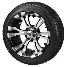 Set of Itp 12 Ss Lsi Hd Aluminum Alloy Golf Cart Car Rim Wheels & Tires Mounted