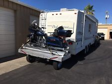 MOTORCYCLE LOADING AND LIFT SYSTEMS ON CARRIER ON BACK OF RV, NOT A TRAILER
