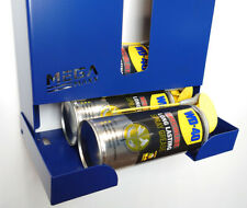 More details for blue wall mounted storage dispenser unit spray grease can garage holder silicone