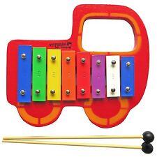 KEEPDRUM Kinder Glockenspiel Auto aus Holz