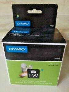 "NEW: DYMO LW 30324 LARGE MULTIPURPOSE LABELS 320 LABELS - 2 1/8"" X 2 3/4"" ~ C19"