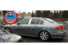 Fit: 2007-2017 Infiniti G35 G37 Q40 Sedan 6Pc Pillar Post Trim Stainless Steel
