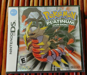 Pokemon Platinum Version Nintendo DS Authentic Case and Manual Only No Game.