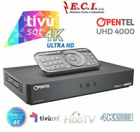 DECODER TIVUSAT OPENTEL DIGITALE 4K UHD 4000 TVS RICEVITORE TVSAT ULTRA HD DVBS2
