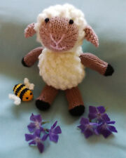 Lamb & Bee Hand Knitted Soft Toy - New Custom Crafted - Unique