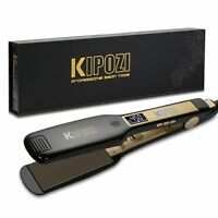 KIPOZI Salon Professional Flat Iron Hair Straightener Titanium Digital Display