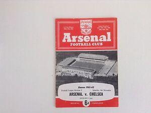 Arsenal  Football Programmes - 1960 to 1964 - Various Fixtures