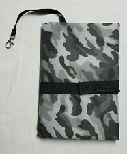 D. Jacware Gray Camo Print Portable Baby Changing Pad - New