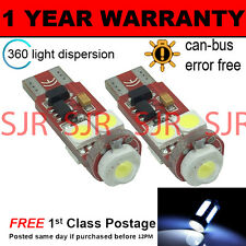 2x W5W T10 501 Canbus Nessun Errore Bianco CREE 4 LED SMD