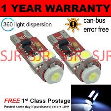 2 x W5W T10 501 Canbus Fehlerfrei weiße CREE 4 SMD LED Seitenlicht Glühlampen