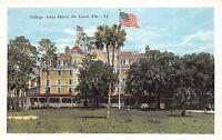 A85/ Deland Florida Fl Postcard c1915 College Arms Hotel Building 2