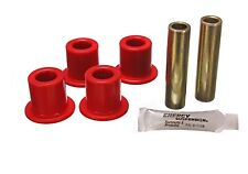 Energy Suspension 2.2120R Shackle Bushing Set Fits 87-95 Wrangler YJ/Red