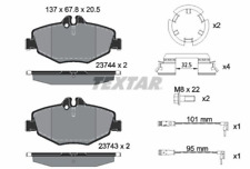Set of Brake Pads / Brake Pads 2374303 W211 Textar Front Axle
