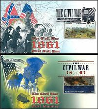 2011 Civil War 1861 First Bull Run Fort Sumter #4522-4523 Cacheted FDC Set