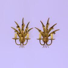 Appliques Hollywood regency épi blé wheat coco chanel mid century années 60 gold