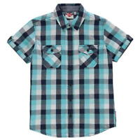 BNWT Lee Cooper Kids Check Shirt  Cotton Chest Pocket Short Sleeve Junior Boys