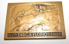 Targa Florio anno 1973 in bronzo targhetta