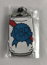 "NEW PBR Pabst Blue Ribbon Beer Can Rubber Keychain 2"" x 1"""
