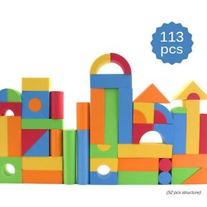 113 Piece Large Foam Building Blocks With Different Shapes And Sizes TB-50