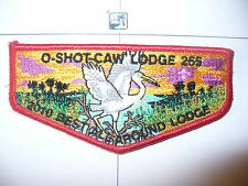 OA O Shot Caw 265 S-135?, 2010 Best All Around Lodge Flap, Tough LEC, RED Bdr,FL