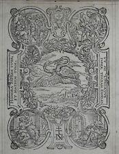 Paris MARQUE TYPOGRAPHIQUE Printer's Mark Sébastien NIVELLE 1574 Aux Cigognes