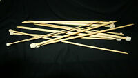 23 cm 25 cm Pair Single Pointed Carbonized Bamboo Knitting Needles 2 mm -10 mm