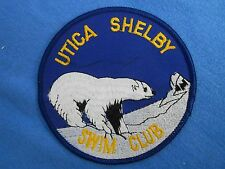 Vintage UTICA SHELBY Swim Club Patch Detroit Michigan Polar Bear Swimming Team