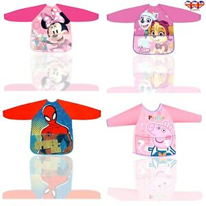 Apron Official Minnie Mouse,Pepea Pig,Paw Patrol,Spiderman Apron For Girl's&Boys