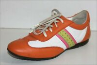 RENOUARD Sneakers Lacets Femme Cuir Coloré Doublés Cuir T 39 TTBE