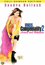 Miss Congeniality 2: Armed and Fabulous (DVD, 2005, Full Frame) BRAND NEW