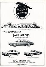 1988 Jaguar XJ6 XJS Dealer Classic Advertisement Ad P75