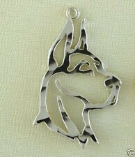 Great Dane Dog Head Lapel Pin Outline Jewelry - .925 Sterling Silver Metal