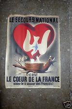 JEAN COLIN AFFICHE DU SECOURS NATIONAL  1943