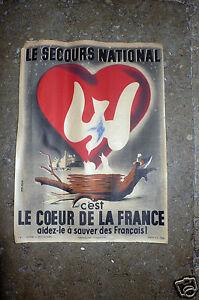 JEAN COLIN .MANIFESTO L'EMERGENZA NAZIONALE ,1943.