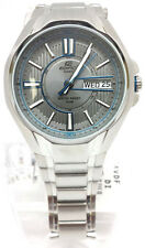 Casio EF-133D-7A Edifice Mens Stainless Steel Watch Dress Grey Dial New 100M WR