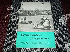 1973 ASSEN Olandese TT settimana PROGRAMMA EVENTI