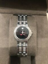 Movado Trevi Stainless Steel Womens Watch Black Dial - 80-A1-831