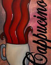 Abstract print giclee Modern COFFEE Decor BIG Canvas Wall Art by Fidostudio